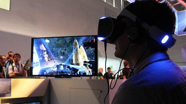 Intensive Weltraumkämpfe mit Rundumsicht gibt es bei Eve Valkyrie für Sony Morpheus.