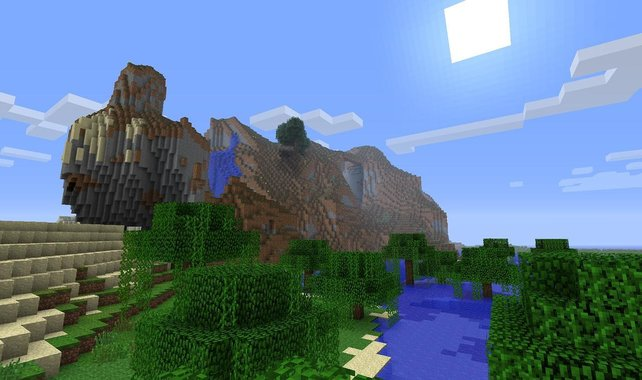 Die per Zufallsgenerator erstellten Welten von Minecraft sind beeindruckend.