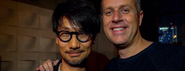 So präsentiert sich Kojima (links) aktuell auf der E3 2017.