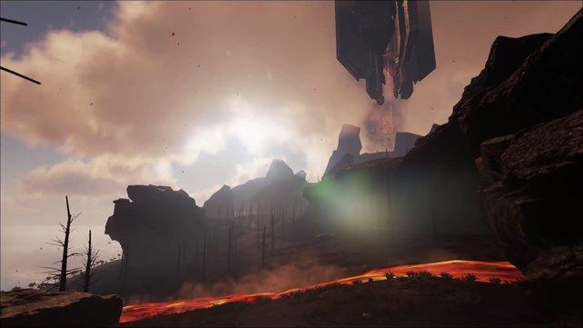 """Die Lava-Insel ist Teil der ehemaligen Mod """"The Center"""" von Ben """"EvilMrFrank"""" Burkart."""
