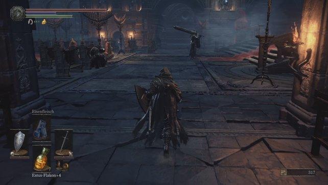 Lockt den Schwarzen Ritter an, ohne die anderen Gegner zu alarmieren.