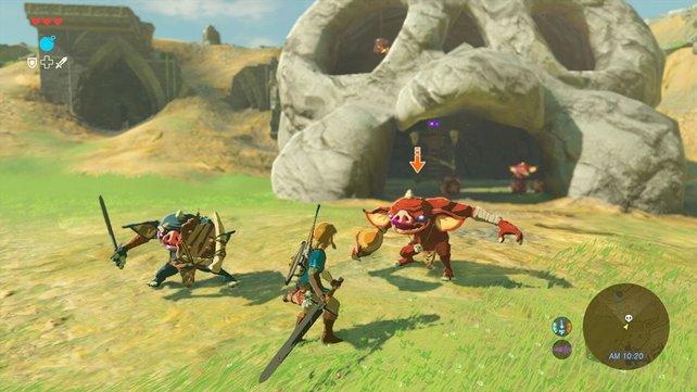 Grafisch reist das neue Zelda keine Bäume aus, trotzdem fasziniert die offene Spielwelt.