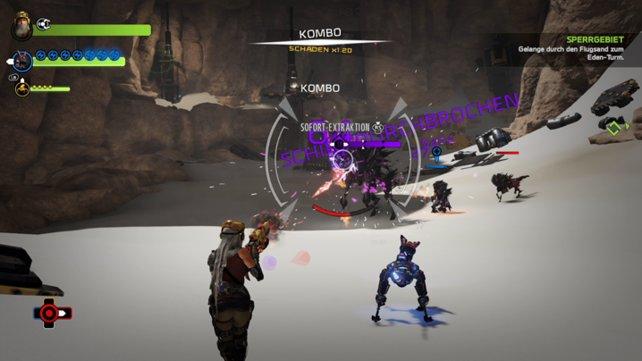 Die Kämpfe gehören zu den Höhepunkten von Recore.