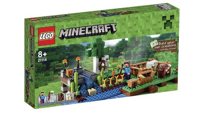 Minecraft gibt es jetzt auch mit echten Lego-Steinen Verschiedene Baukasten sorgen für Bastelspaß.