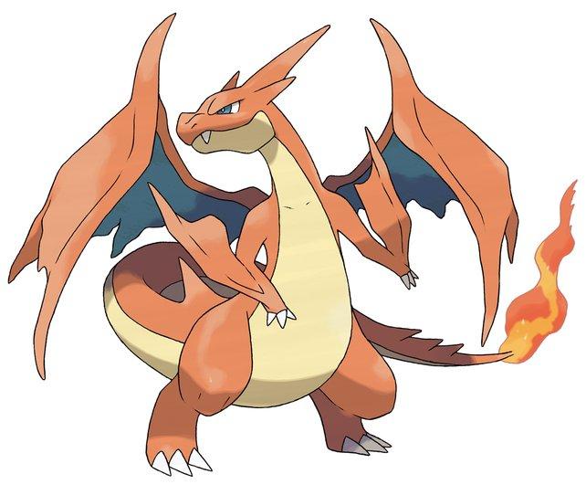 Mega Glurak Y: Das Aussehen kann den Typen eines Pokémons verraten.