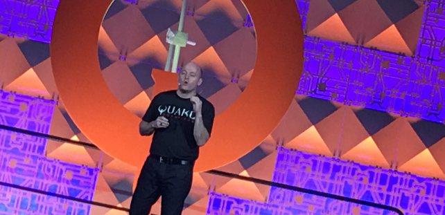 Tim Willits von id Software auf der Quakecon 2016.