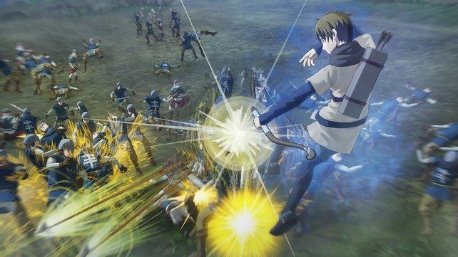 Mitstreiter Elam kämpft mit einem Bogen.
