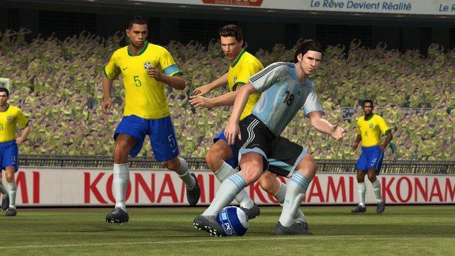 Jung: Dem jungen Lionel Messi ist seine Jugend in PES 2008 wortwörtlich im Gesicht anzusehen.