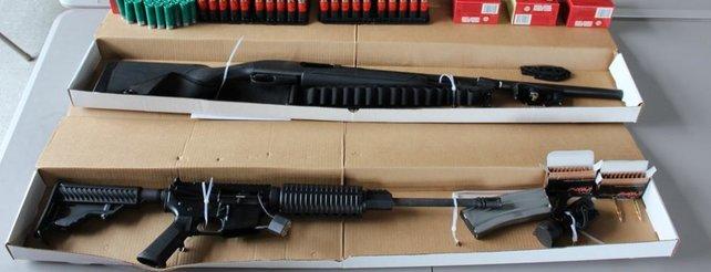 Diese Waffen hat die Bostoner Polizei konfiszieren können.