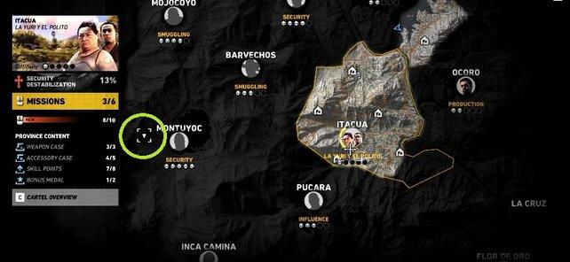 Ihr wollt die MSR finden? Dann begebt euch zu dem markierten Fundort auf der Karte.