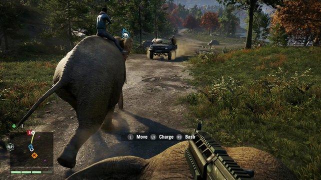 Verfolgungsjagd auf einem Elefanten. Sowas bietet nur Far Cry 4!