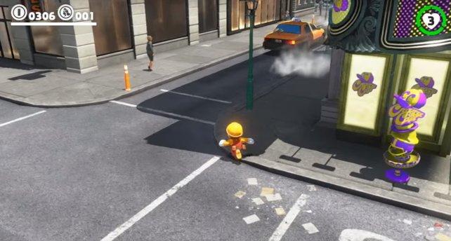 New Donk City ist der perfekte Spielplatz für Baumeister-Mario.