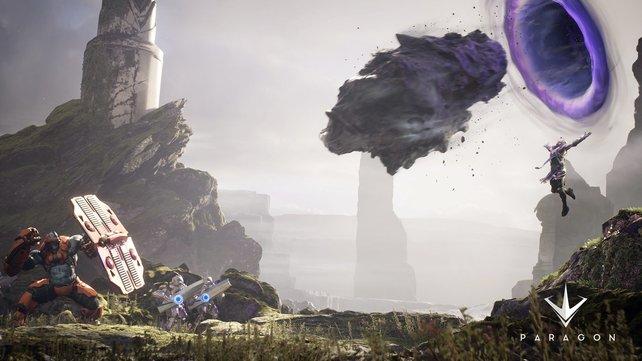 Agora: Die erste und einzige spielbare Karte ist voller bewachsener Steine und bietet etliche Höhenunterschiede.