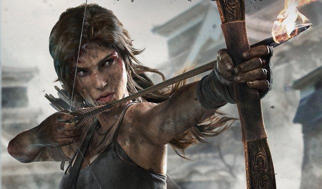 Lara mit ihrem Bogen.