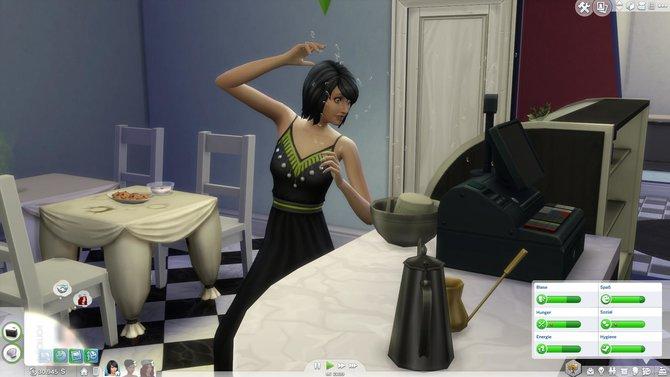 Die Sims machen sich an die Arbeit.