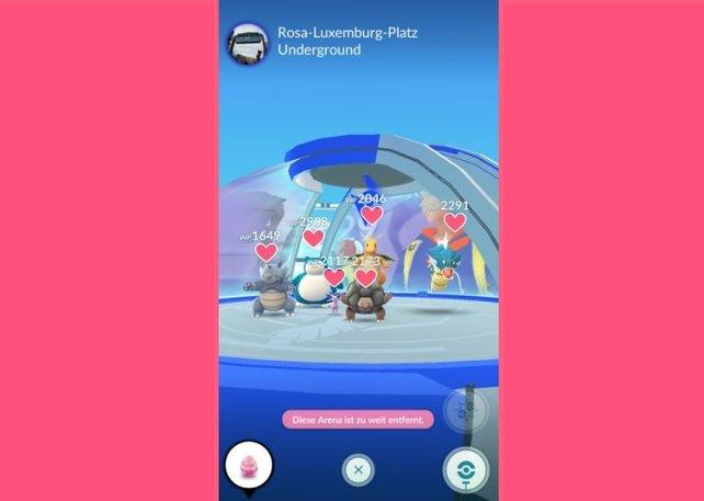 Die Herzen der Taschenmonster in Pokémon Go zeigen euch die Motivation für neue Kämpfe an.