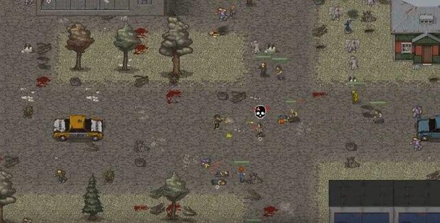 Ihr müsst in Mini DayZ eine Waffe finden, wenn ihr euch gegen Zombies zur Wehr setzen wollt.