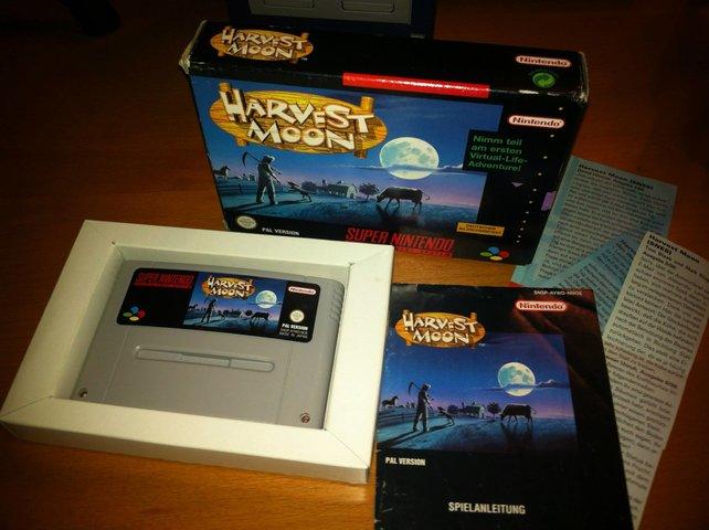 Auch in Deutschland ist Harvest Moon noch erschienen. Hier seht ihr das Exemplar von Onkel Jo, das er vor ein paar Jahren seiner Sammlung hinzufügen durfte.