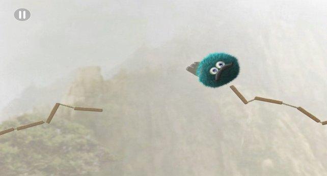 Ähnlich wie Kirby, kann Leopold durch die Lüfte schweben.