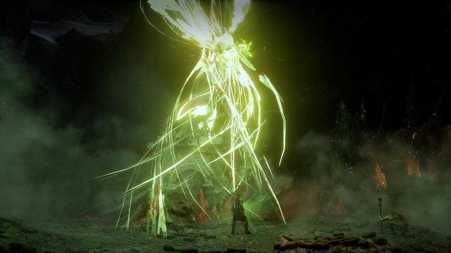 Nur euer Held kann die grünen Risse ins Dämonenreich schließen.