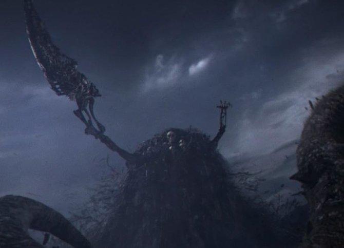 Nito im Kampf gegen die übermächtig wirkenden Drachen.