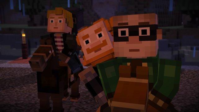 In Episode 4 staunen die Charaktere nicht schlecht. Wie soll der Witherstorm bloß aufgehalten werden?