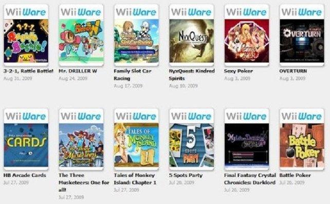 Mit WiiWare-Spielen will Nintendo die sogenannten Homebrew-Entwickler aus der Illegalität holen. Sie geben kleinen Amateurstudios eine regulierte Plattform für ihre Ideen. Wie bei der Virtual Console ladet ihr die Programme auf die Konsole runter.