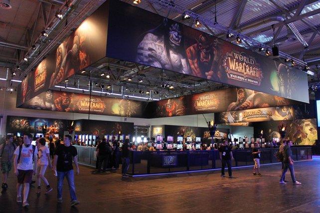 Altvertraut wirkt der Stand von Blizzard mit seinen zahlreichen Spielgelegenheiten.
