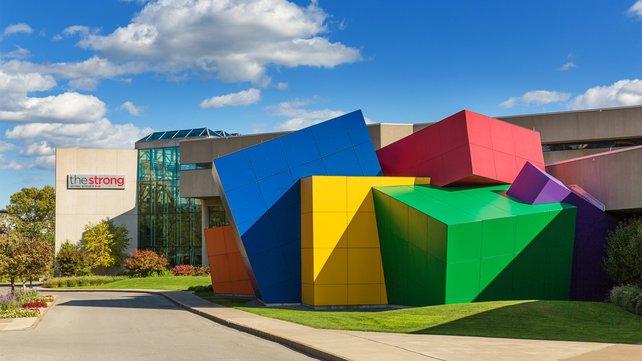 Das verspielte Museum ist von außen gut an den bunten Würfeln zu erkennen.