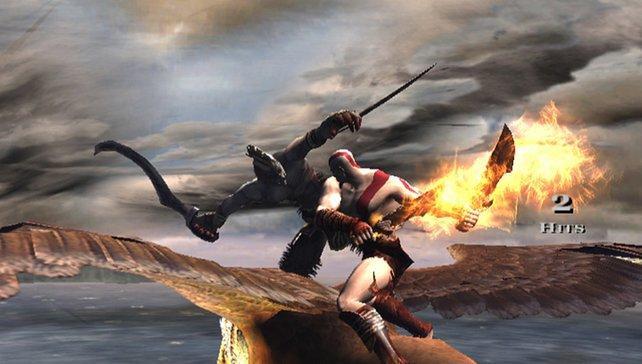 Hacken und Schlagen: Held Kratos macht keine Gefangenen!
