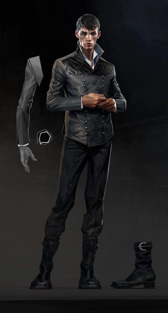 """Der """"Outsider"""", der schon im ersten Dishonored eine interessante Rolle einnahm. Sein Aussehen ändert sich in Dishonored 2 nur in Details und in seinem Auftreten."""