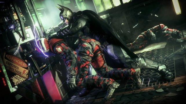 Kopf hoch! Batman setzt nun die Umgebung zu seinem Vorteil ein.
