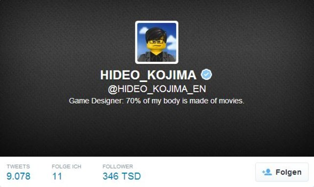 Hideo Kojima twittert besonders oft.