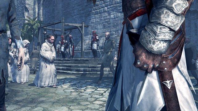 Altair opferte einen Ringfinger, um die versteckte Klinge benutzen zu können.