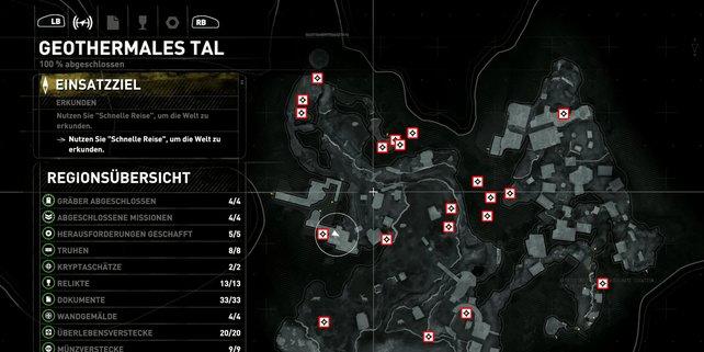 Karte: Geothermales Tal.