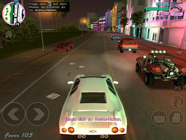 Die schrill-bunte Metropole Vice City ist eine Hochburg des Verbrechens.