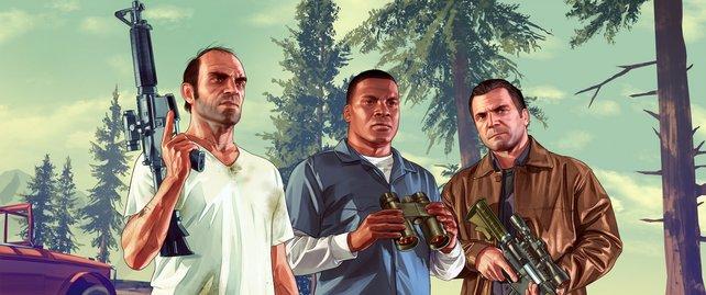 Trevor, Franklin und Michael haben mit Cheats noch mehr Spaß am Chaos.
