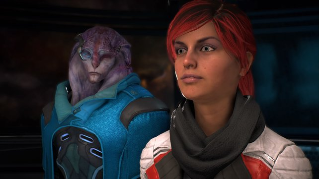 Sara Ryder und Jaal - ein künftiges Liebespaar in Mass Effect - Andromeda?