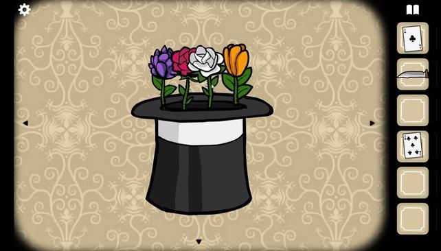 Die Lösung des Blumenrätsels.