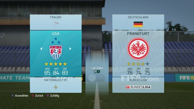 USA ist die stärkste Frauenmannschaft in FIFA 16.
