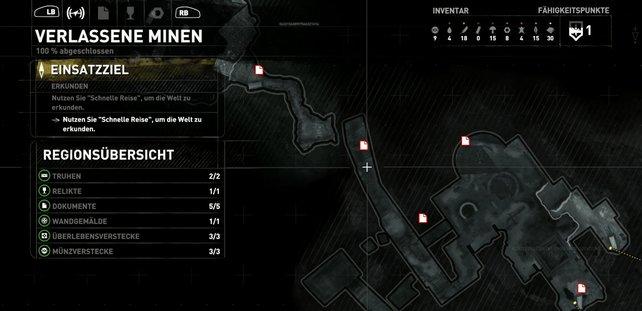 Karte: Verlassene Minen.