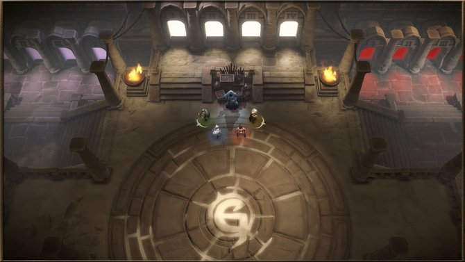 Alles beginnt in Gauntlet in dieser Halle. Von hier aus kommt ihr in die Levels und zum Händler.