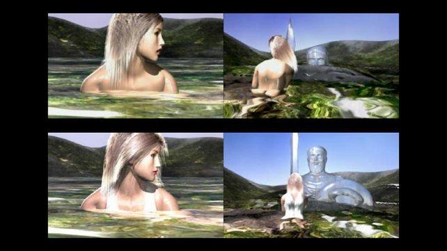 Kämpferin Sophitia zeigt sich im Original nackt (oben), in der Europaversion aber mit Gewand (unten). (Bild von schnittberichte.com)