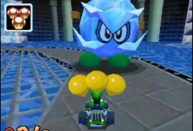 Ein Gegner aus Super Mario 64 in einem Rennspiel? Naja, Mario Kart DS macht eben so einige Experimente.
