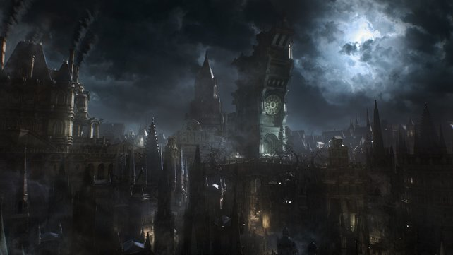 Düsterer geht es kaum. Bloodborne präsentiert sich in finsterster Pracht.
