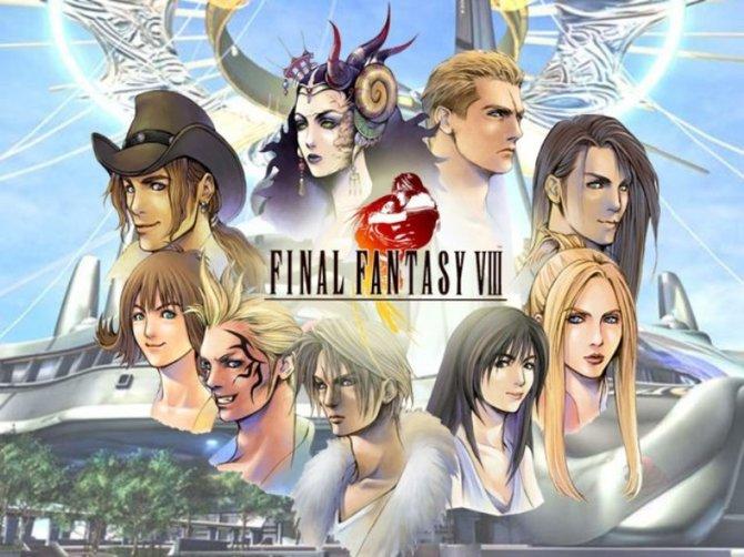 Hier seht ihr die Hauptdarsteller von Final Fantasy 8. Xell ist natürlich dabei.