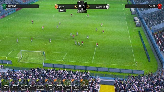 Fußball macht Spaß: Die 3D-Sequenzen von FX Football sind durchaus ansehnlich geraten.