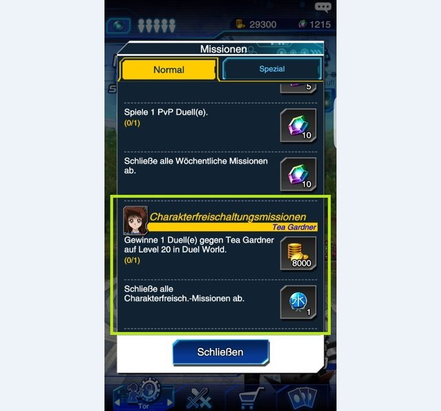 In the menu you can see the character release missions for every legendary duelist.