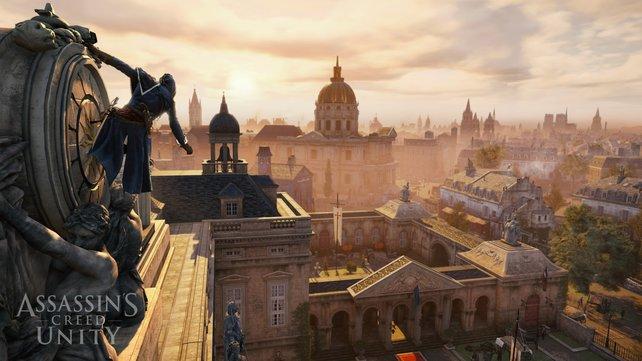 Ein Blick von oben zeigt euch, was euch erwartet. Ganz Paris ist euer Spielplatz.