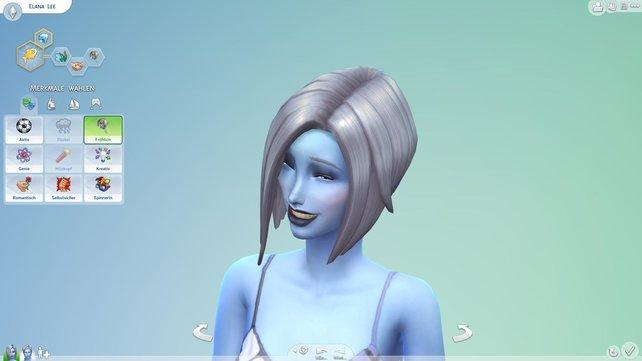 Blau, grün oder schneeweiß - euer Sim kann so verrückt aussehen, wie ihr wollt.